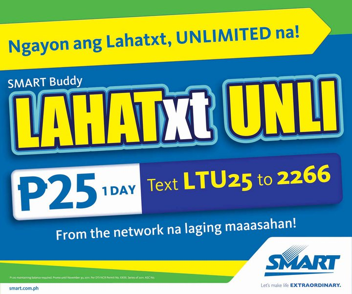 Smart Buddy Prepaid Cellphone cards Registrations and Promos (2/3)